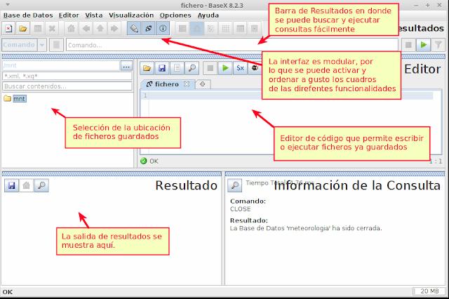 interfaz de BaseX