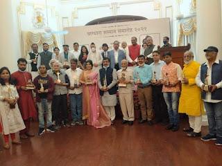 राजभवन में राज्यपाल ने दिया विशिष्ट जनों को वाग्धारा सम्मान    #NayaSaberaNetwork