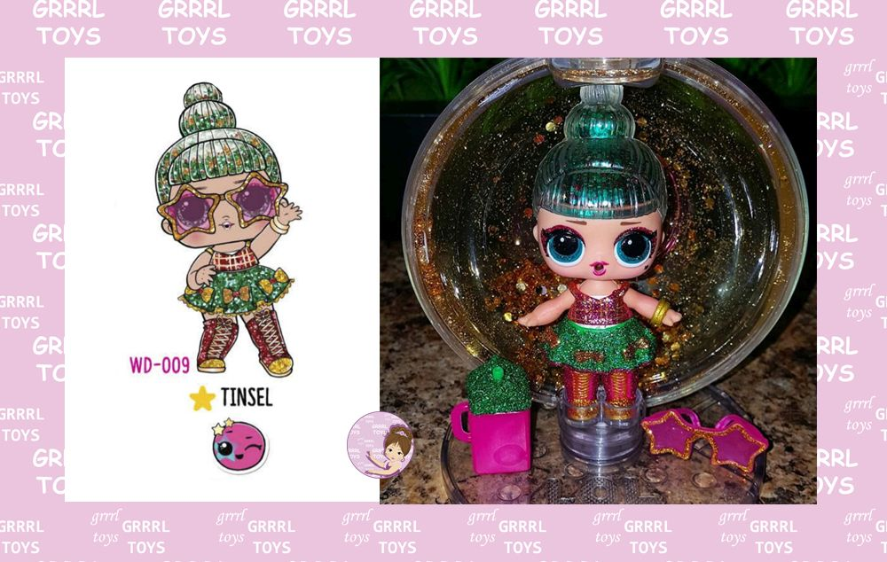 Tinsel 009 Christmas doll 2019 from Winter Disco series