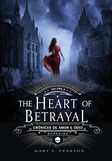 Capa do livro The Heart of Betrayal, publicado pela Darkside Books