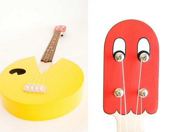 Cool pacman inspired ukulele