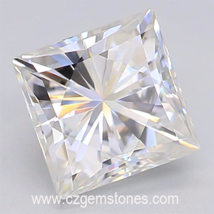 Princess cut moissanite gemstones