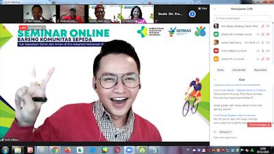 Kegiatan seminar online ini di tutup oleh drg. Marlina BR Ginting Manik, M.Kes, Kasie Peningkatan Peran Serta Masyarakat dari Direktorat Promkes dan PM.