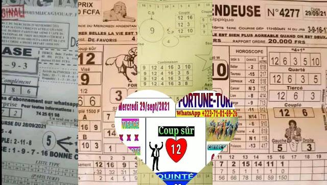 Pronostic quinté pmu Mercredi Paris-Turf TV-100 % 29/09/2021