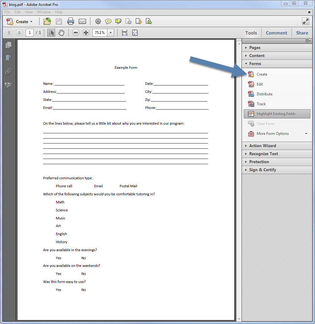 how to create editable pdf form fields in google document
