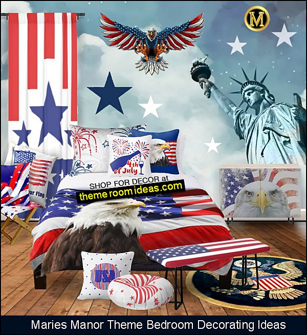 americana bedrooms patriotic bedrooms 4th july bedroom ideas Amerticana decor