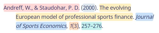 contoh daftar pustaka - gaya APA 2