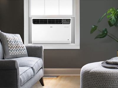 LG 1.5 Ton 5 Star Inverter Wi-Fi Window AC with Special Ocean Black Protection For Indian Regions