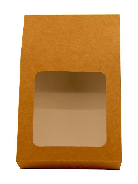Pudełko tekturowe z okienkiem na herbatę