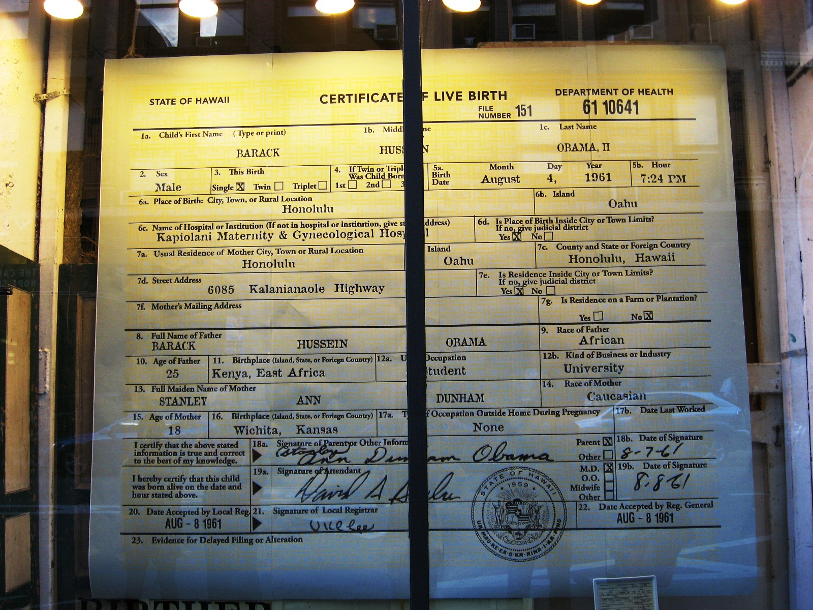 obama certificate glass dinnerware barack hussein york subway tray window eddy fishs display infidel urban