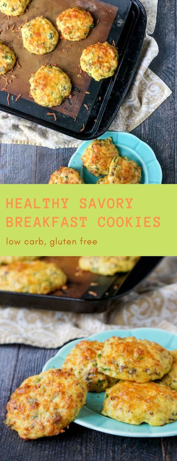 Healthy Savory Breakfast Cookies - low carb, gluten free