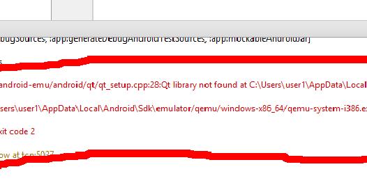 Programming Techniques & Tools: Emulator: [1116]:ERROR