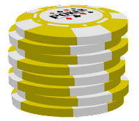 yellow poker chip stack