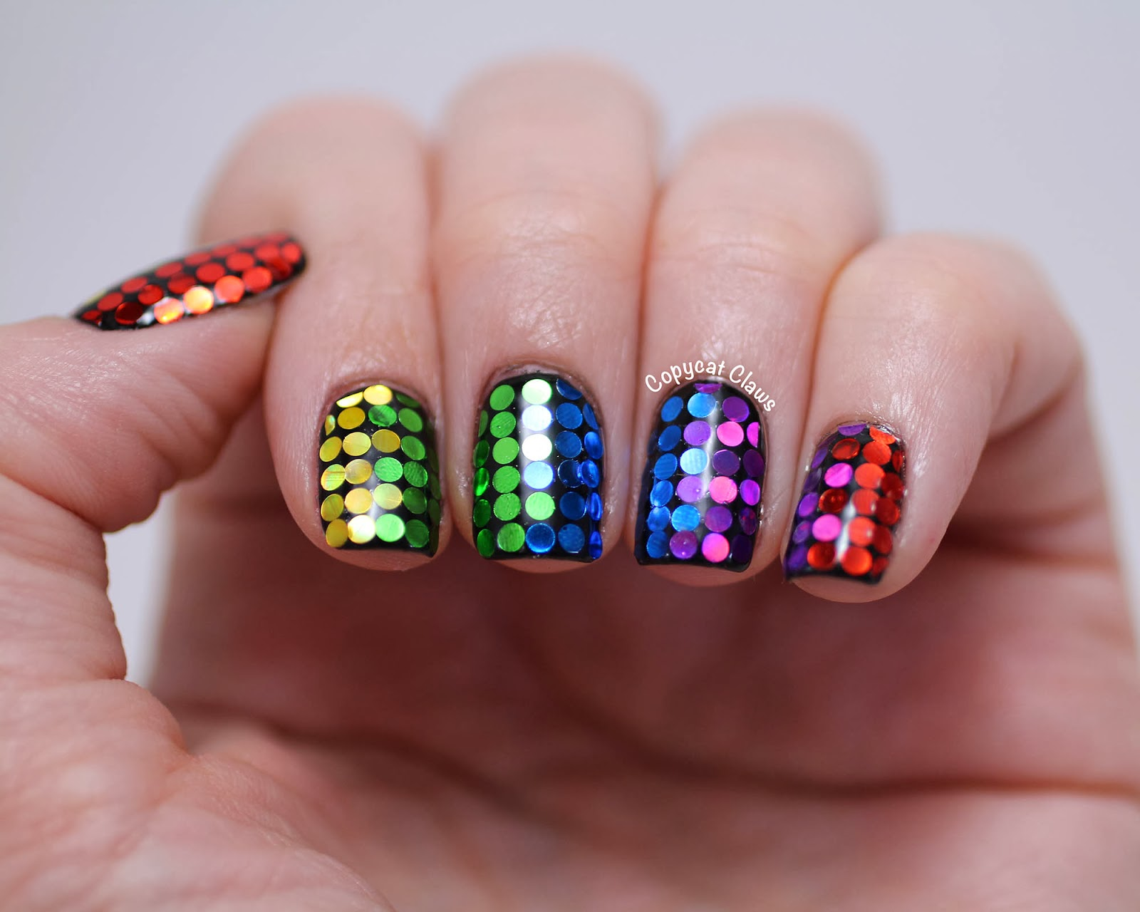 Copycat claws glitter rainbow nails seriously if you havent checked out polish all the nails youre doing yourself a disservice run and go check out all her glitter placement manicures solutioingenieria Gallery