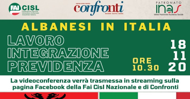 Albanesi in Italia; conferenza su Lavoro, Integrazione, Pensioni
