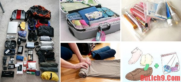 Cách lựa chọn và sắp xếp hành lý khi đi du lịch