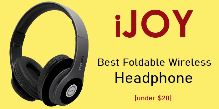 iJoy - Foldable Wireless Headphone with Mic [under $20]