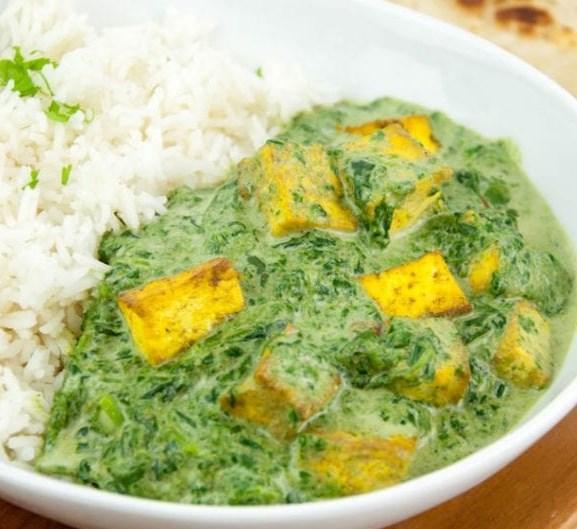 VEGAN PALAK TOFU PANEER #indianfood #vegetarian