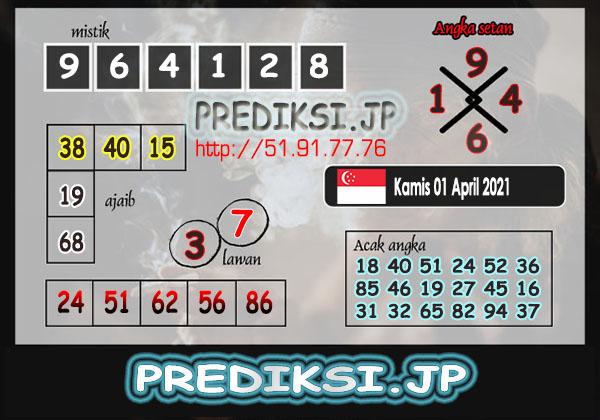 Prediksi JP SGP Kamis 01 April 2021
