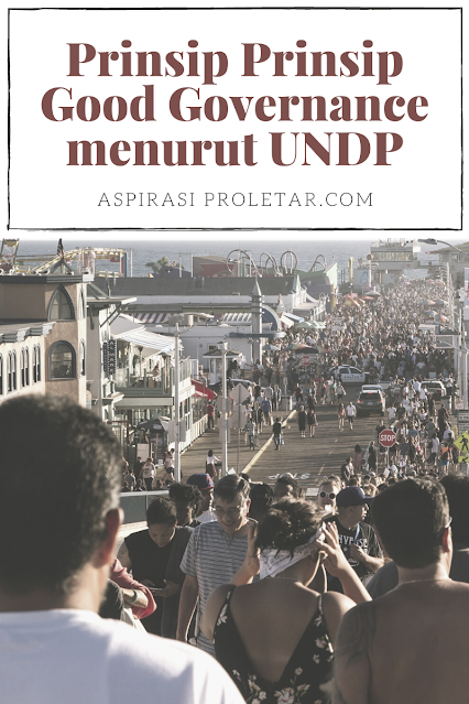 Prinsip Prinsip Good Governance menurut UNDP