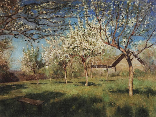 Исаак Ильич Левитан - Цветущие яблони (3). 1896