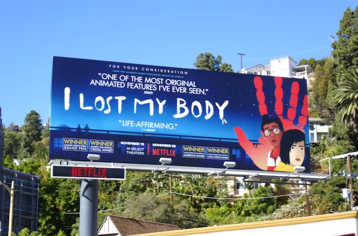 I Lost My Body animated movie FYC billboard