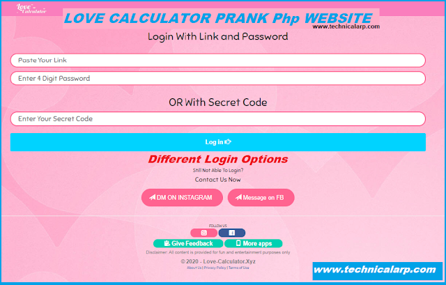Love Calculator Prank Script Know Secret Friends GF Name Script