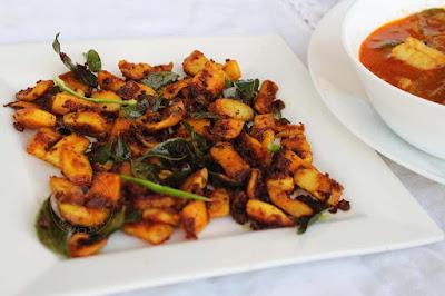 simple easy squid or calamari fry kerala style seafood recipes kanava thoran stir fry roast