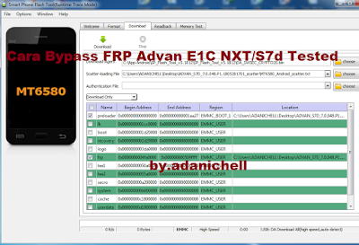 Cara Bypass FRP Advan E1C NXT/S7d Tested