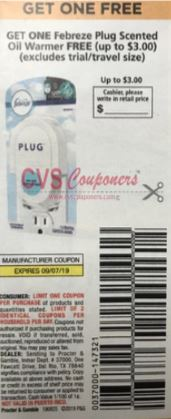 "FREE Febreze Plug Scented Oil Warmer FREE Coupon from ""P&G"" insert week of 8/25.""limit 2"" up to $3.00 value(EXP:9/7)."