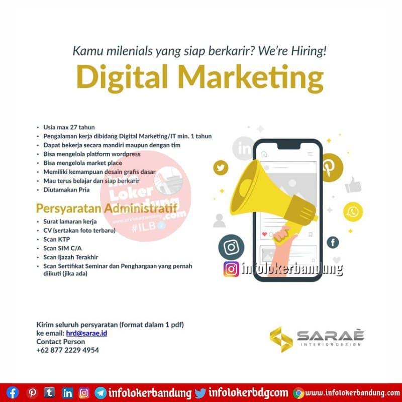 Lowongan Kerja Digital Marketing & Social Media Marketing Sarae.Id