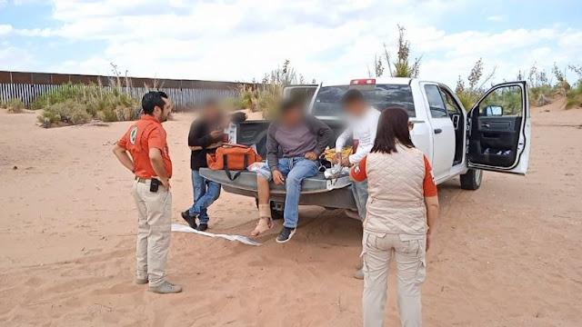 Rescatan Grupos Beta Tijuana, Tecate y Ciudad Juárez del INM a personas migrantes lesionadas al resbalar de muro fronterizo
