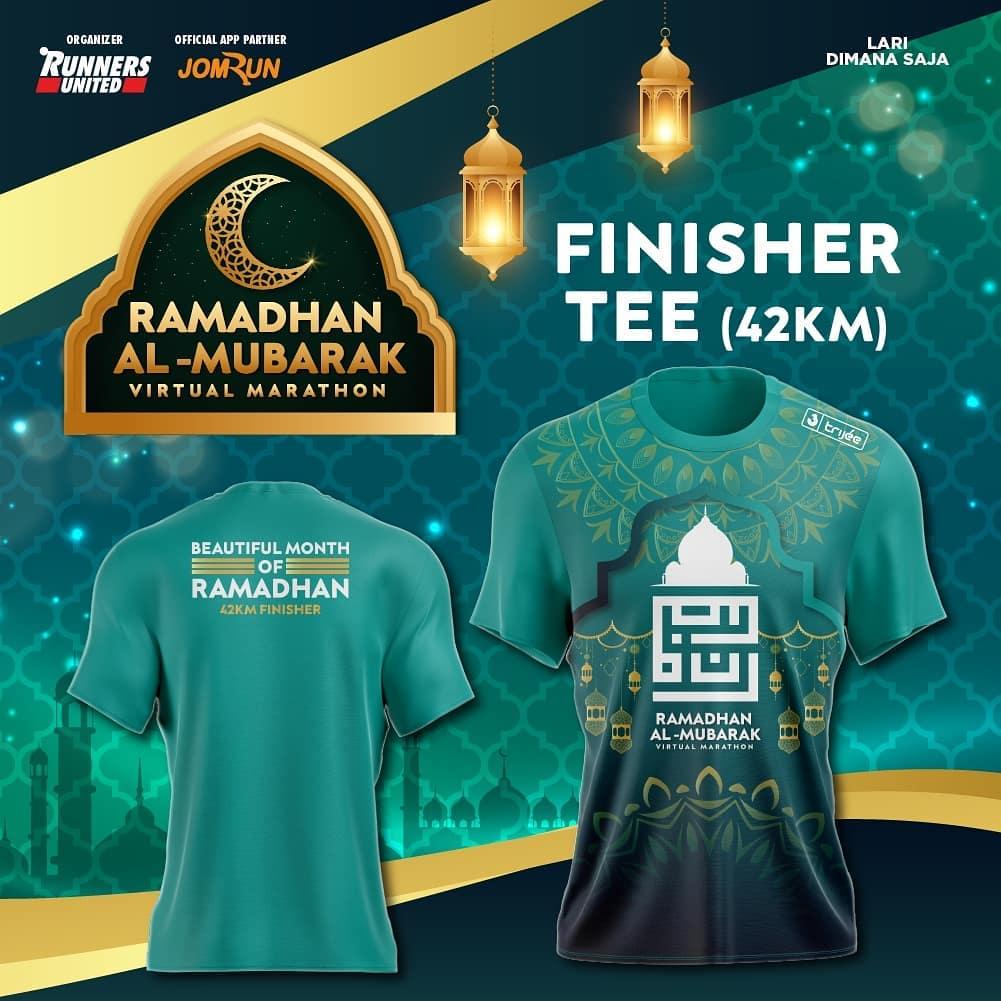 Tee 42K 👕 Ramadhan Al-Mubarak Virtual Marathon • 2021