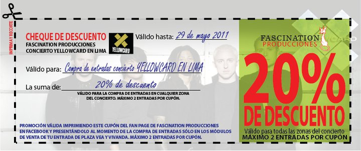 Rock Music Peru Yellowcard En Lima Precio De Entradas