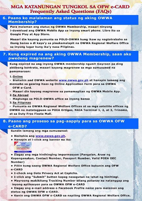 owwa ecard - ofw overseas filipino workers FAQ2