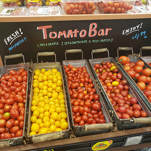 Mini tomato bar at Food City #694