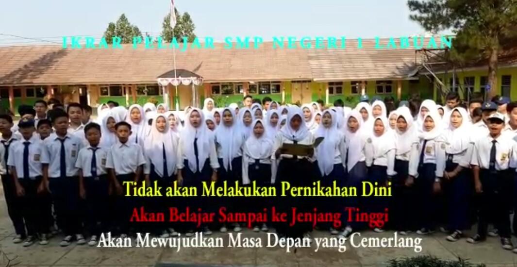 Soal Pernikahan Dini Begini Ikrar Pelajar Smpn 1 Labuan Radar Nusantara News