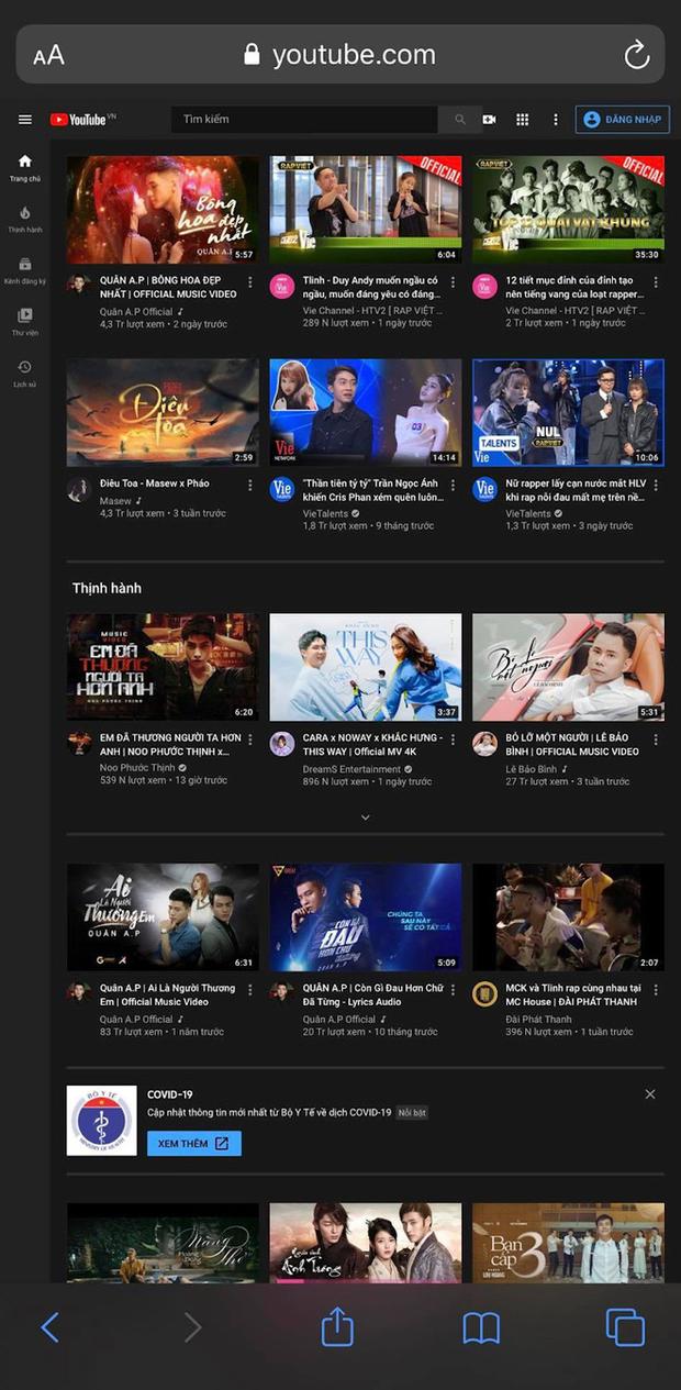 Cách nghe nhạc trên Youtube mà không cần mở màn hình