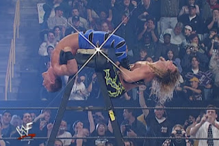 WWE / WWF Royal Rumble 2001 - Chris Benoit faced Chris Jericho in an excellent ladder match