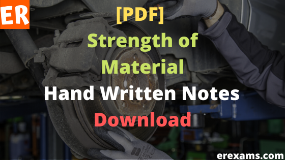 Strength of Material Notes Free Pdf Download