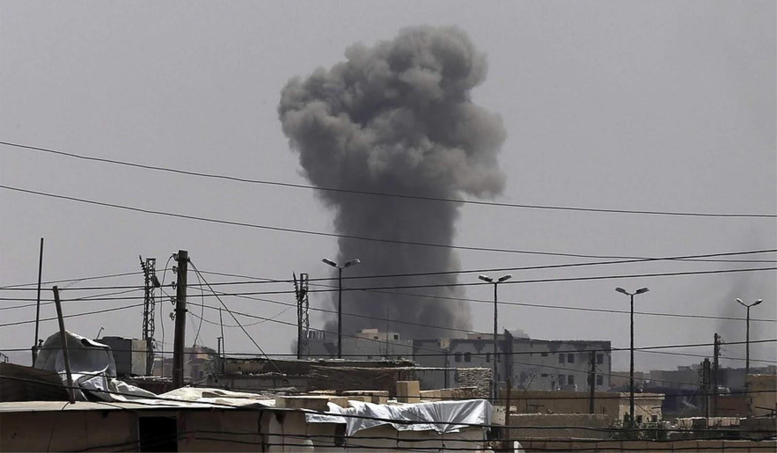 15 warga Suriah tewas dalam serangan pasukan koalisi yang dipimpin Amerika Serikat di kota Hajin