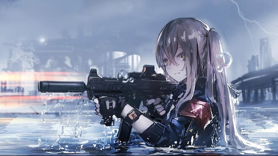 Anime, Girls Frontline, UMP45, Gun, 4K, #6.1076