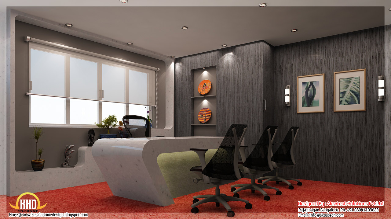 Interior design ideas for office and restaurants kerala for Office interior decorating ideas