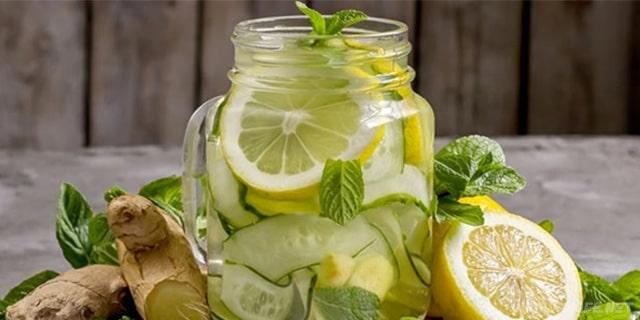 limonlu ve zencefilli detoks suyu nasıl yapılır - www.kahvekafe.net