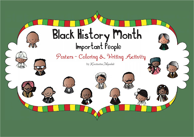 The constant kindergartener teaching ideas and resources for Black history month coloring pages for preschoolers