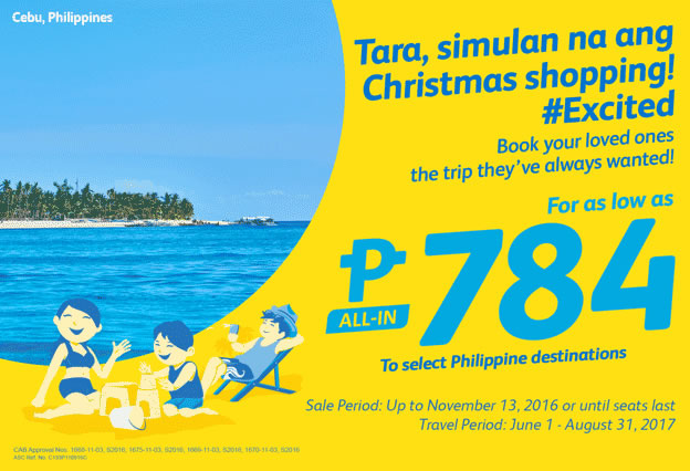 Cebu Pacific Promo 784 All-In Fare Philippine Destinations