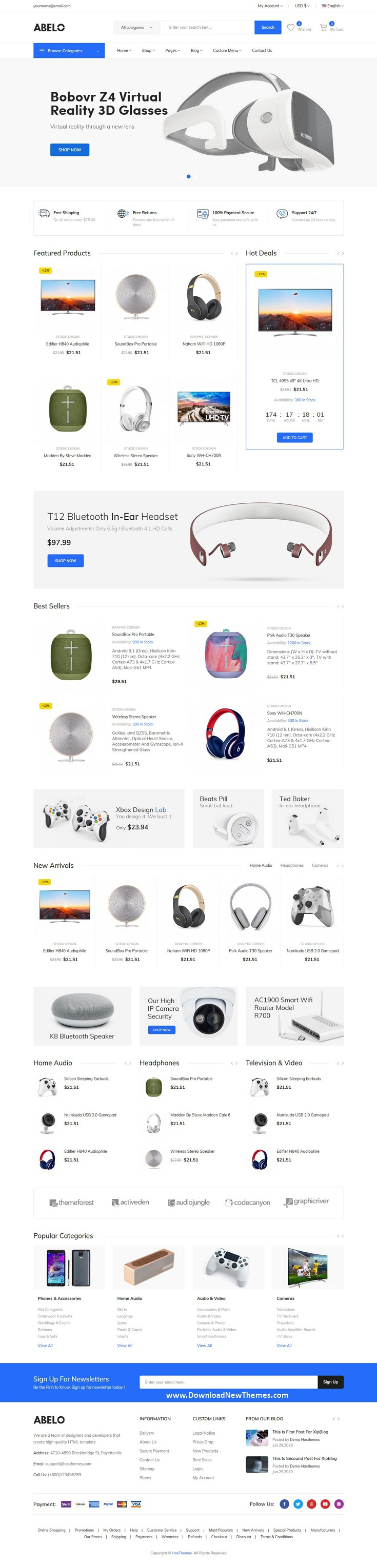 Electronics eCommerce HTML5 Template
