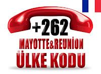 +262 Mayotte ve Reunion ülke telefon kodu