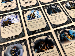 A selection of power cards from Warhammer Underworlds: Nightvault