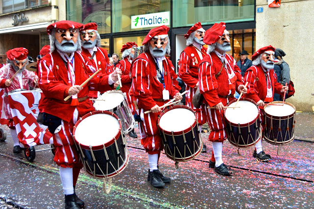 Sleachmour Adventures, Fasnacht, Drummers in the Fasnacht Parader
